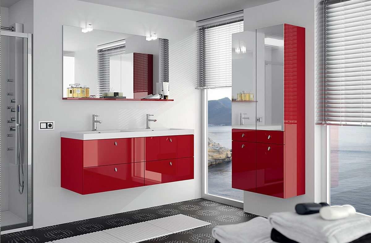 Salle de bain MAUPITI ROUGE Pyram - Arivat Kuchen - votre ...